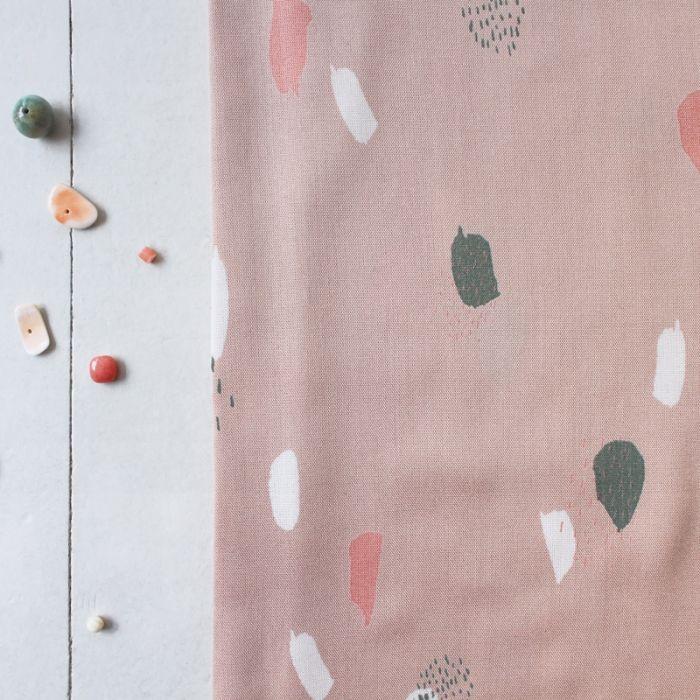 Biais viscose Moonstone Pink - Atelier Brunette x 10 cm