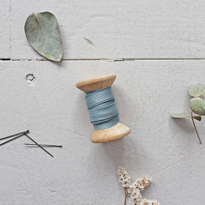 Biais crêpe viscose uni - Atelier Brunette x 10 cm