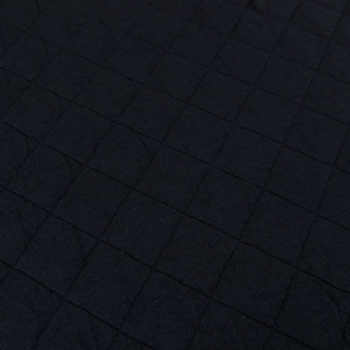 Jersey matelassé coton - marine x 10 cm