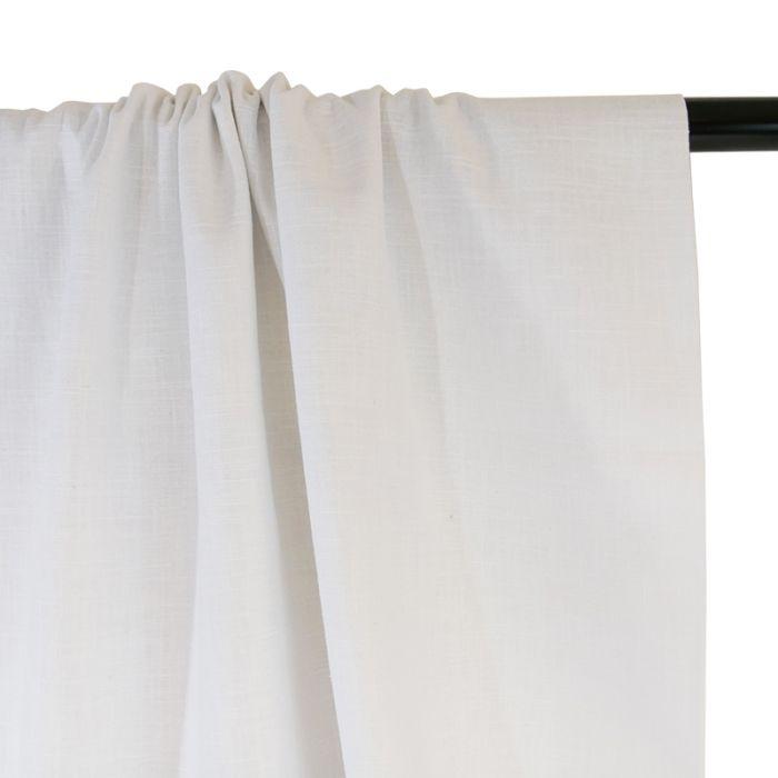 Tissu ramie Linen look - blanc x 10cm