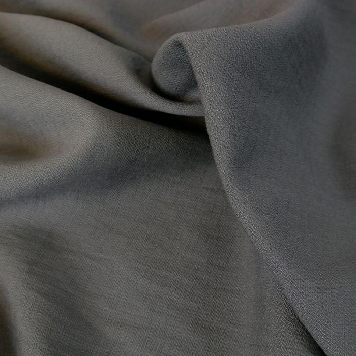 Tissu crêpe viscose gaufré - gris x 10 cm
