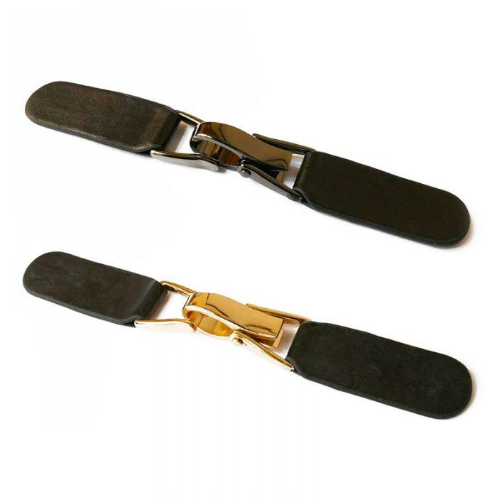 Brandebourg simili-cuir à pince métal 15,5 cm