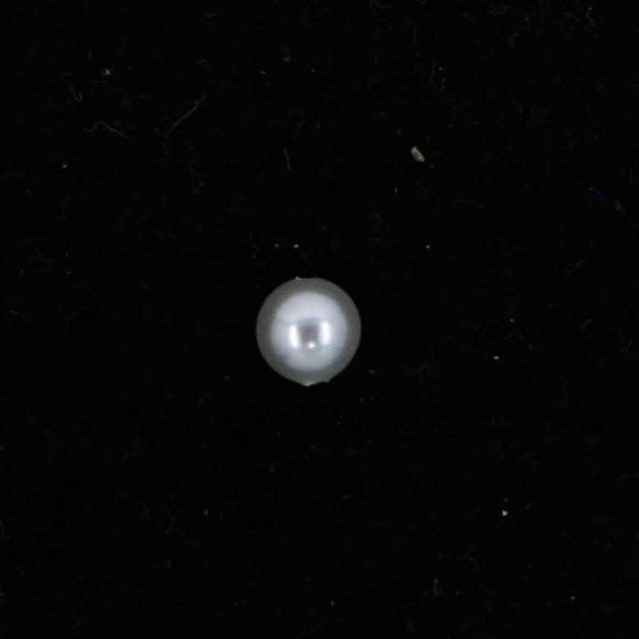 Perle nacrée ronde 6mm gris perle x10