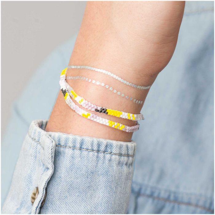 "Kit bracelet double tour brick stitch ""Pastel"""