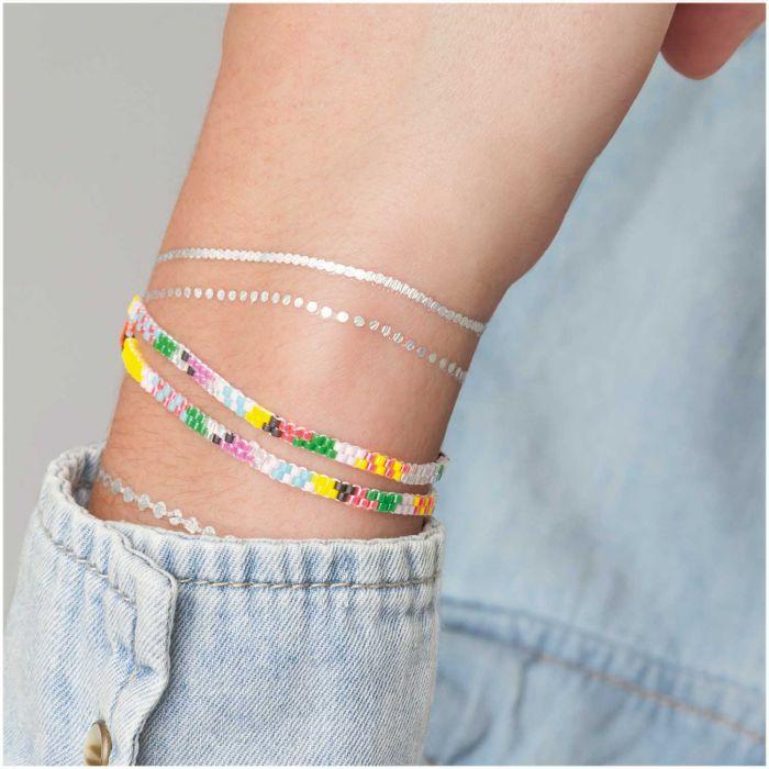 """Kit bracelet double tour brick stitch """"Multicolore"""""""