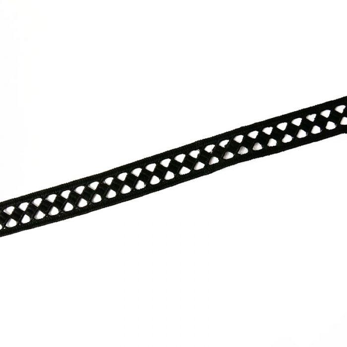 "Ruban guipure ""losanges""  22 mm x 10 cm"