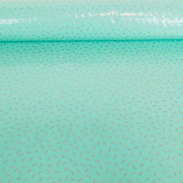 Toile cirée Rico design confettis argent x 10 cm