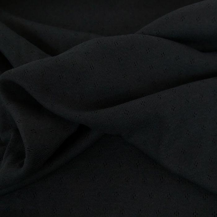 Tissu jersey ajouré oeko-tex Stenzo - Noir x 10 cm