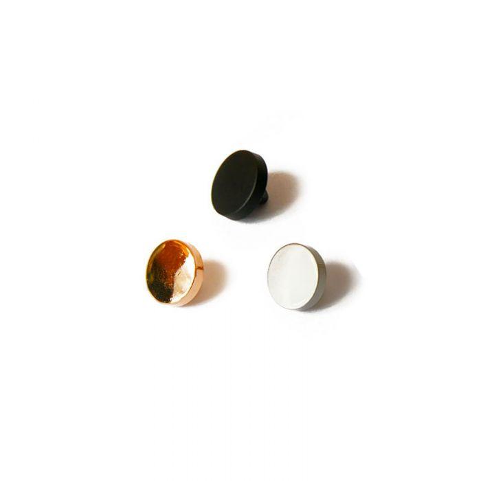 Bouton à pied en métal 10 mm x 1