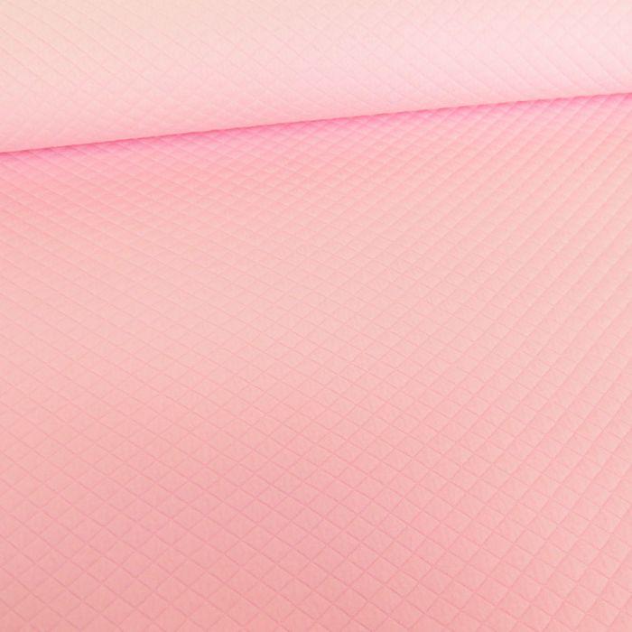 Jersey matelassé - rose x 10 cm