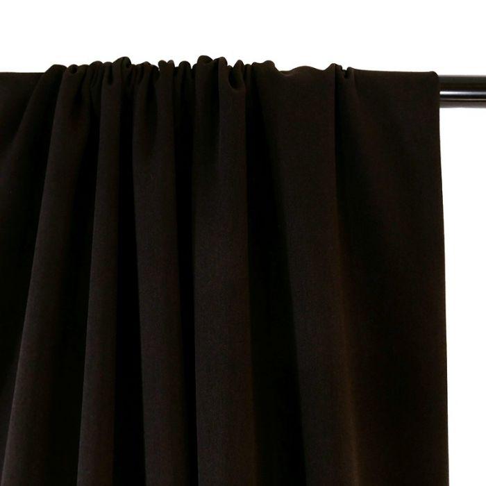 Tissu Crêpe stretch - marron x 10 cm