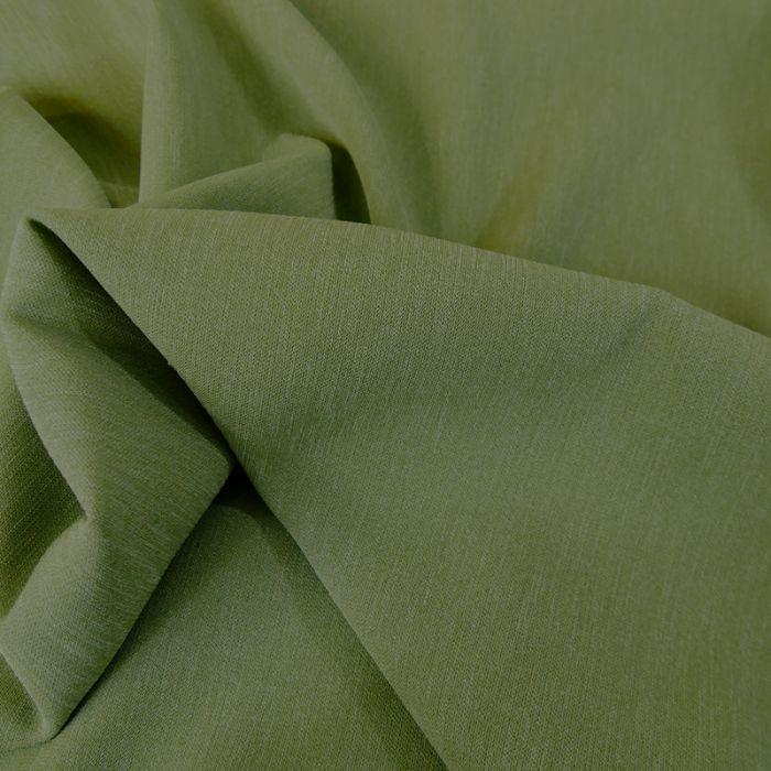 Tissu Crêpe stretch - olive x 10 cm
