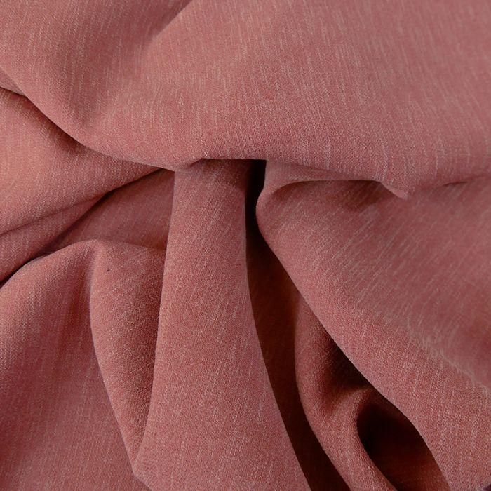Tissu Crêpe stretch - églantine x 10 cm