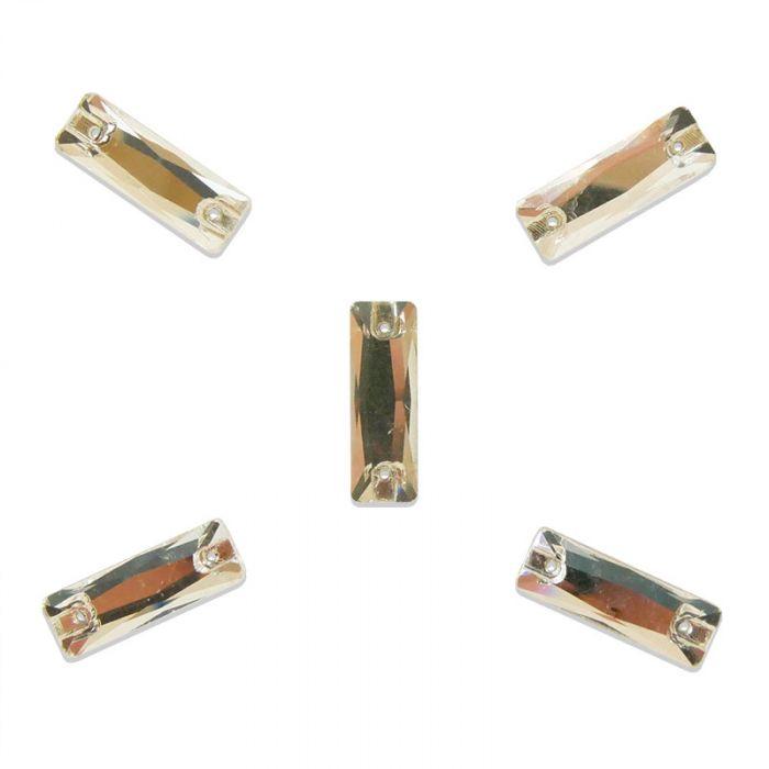 Strass à coudre baguette en cristal facetté x5