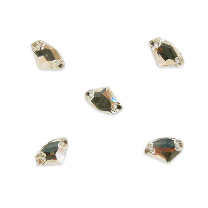 Strass à coudre diamant en cristal facetté x5