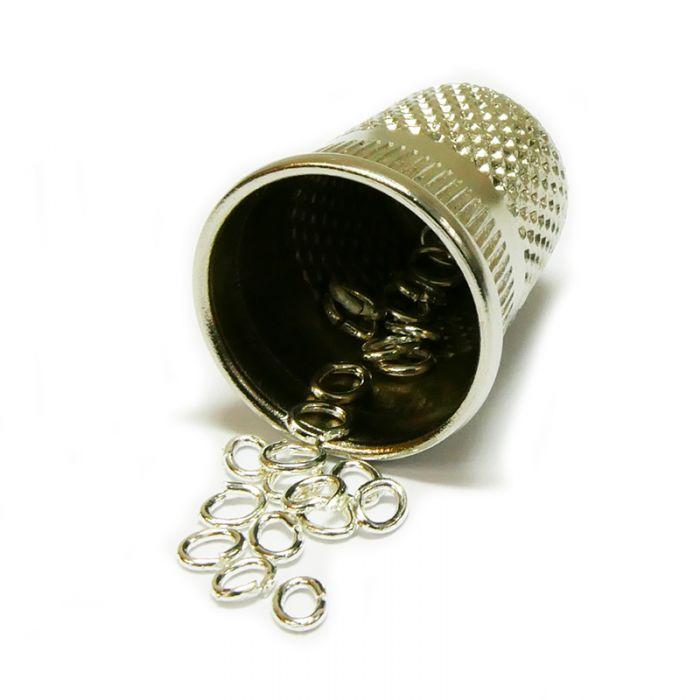 Anneaux ovales ouverts 3 x 4 mm argent x20