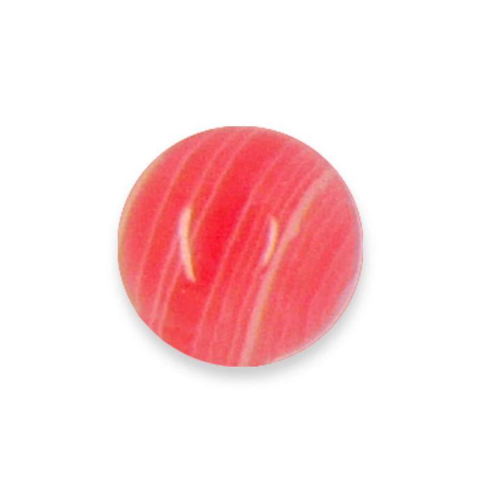 Cabochon agate teintée rose 6 mm x1