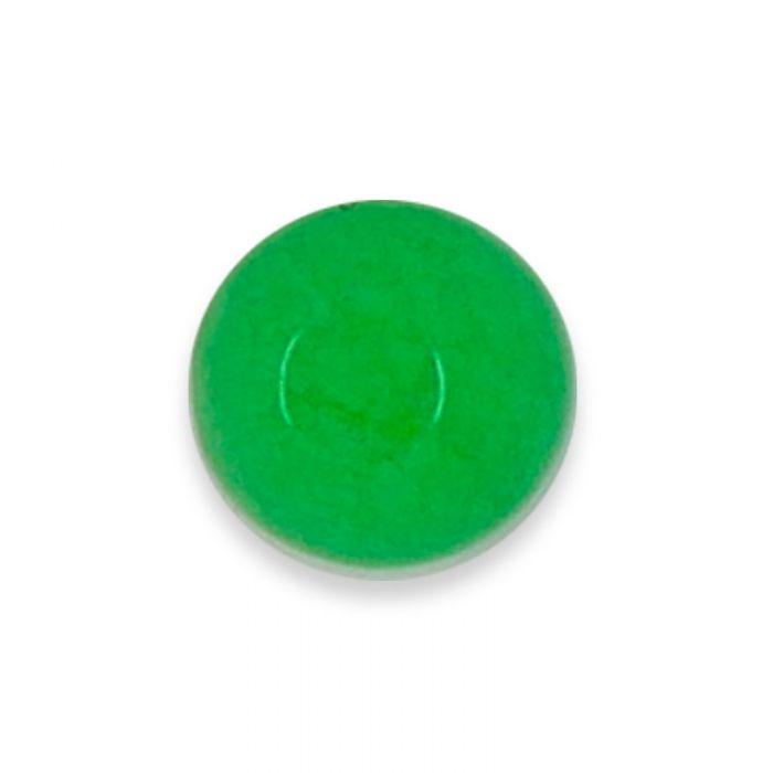 Cabochon agate teintée verte 6 mm x1