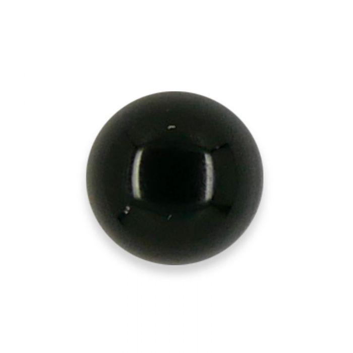 Cabochon agate noire 6 mm x1