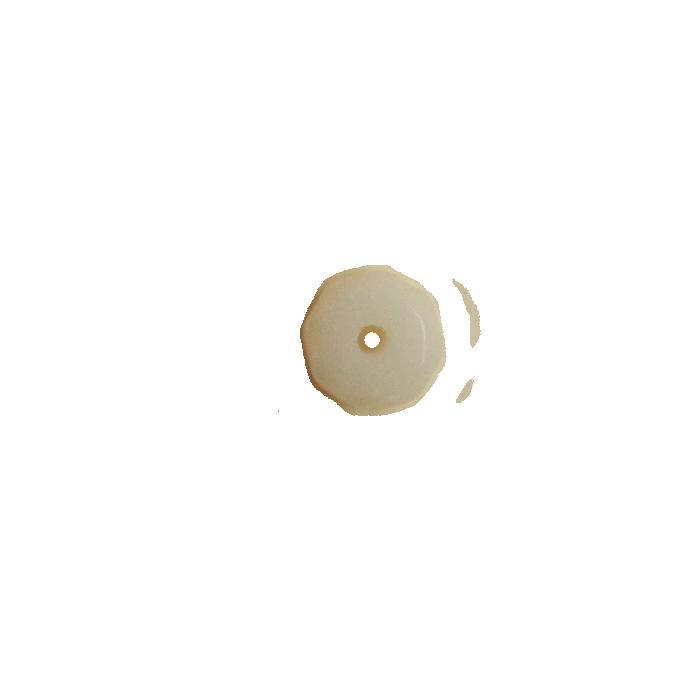 Agate rondelle facette 2.5/4mm blanc