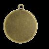 Breloque 30mm ronde avec rebord bronze