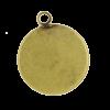 Breloque 25mm ronde avec rebord bronze