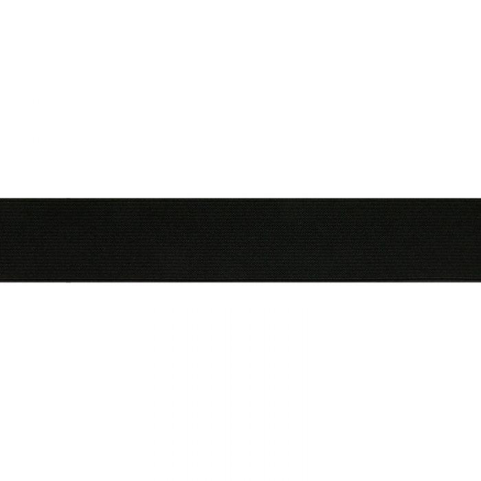 Élastique côtelé noir x 10 cm