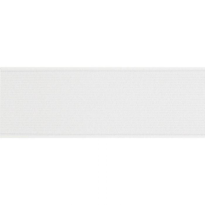 Élastique côtelé blanc x 10 cm