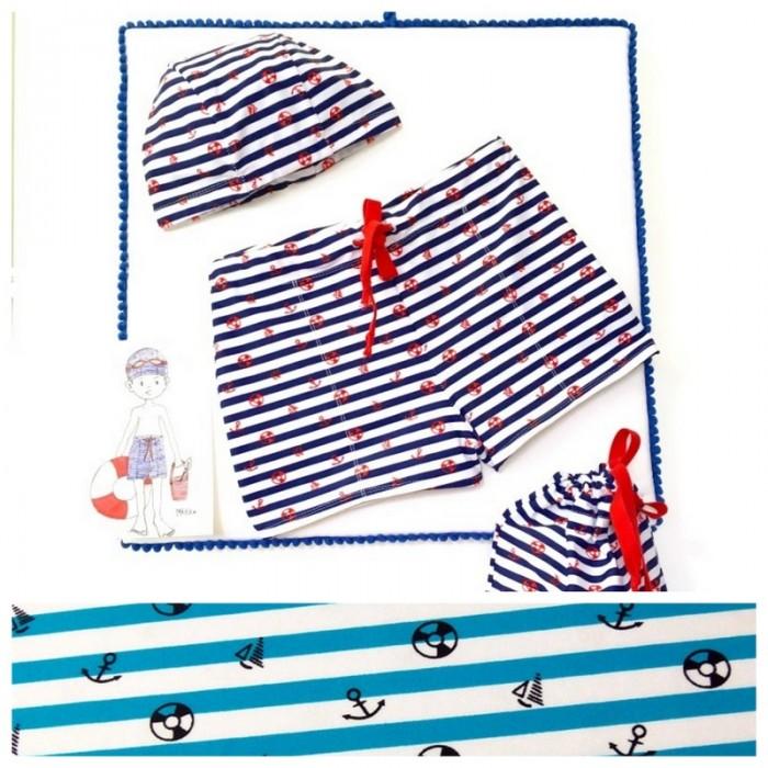 Kit : boxer de bain enfant de Marikiki - Turquoise