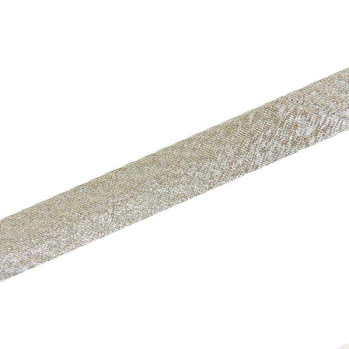 Biais lamé 18 mm x 10 cm