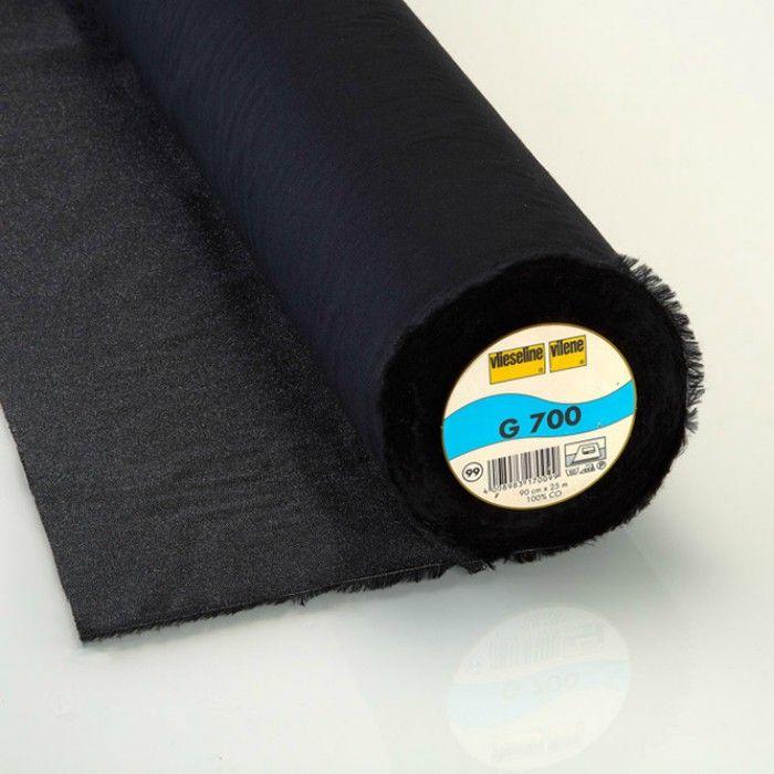 Entoilage tissé Vlieseline G700 - noir x 10 cm