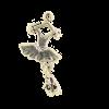 Breloque tutu ballerine 26mm argent