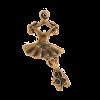 Breloque tutu ballerine 26mm cuivre