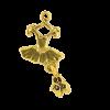 Breloque tutu ballerine 26mm dor