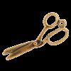 Breloque ciseaux 32mm cuivre