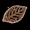 Breloque filigrane feuille 24mm cuivre