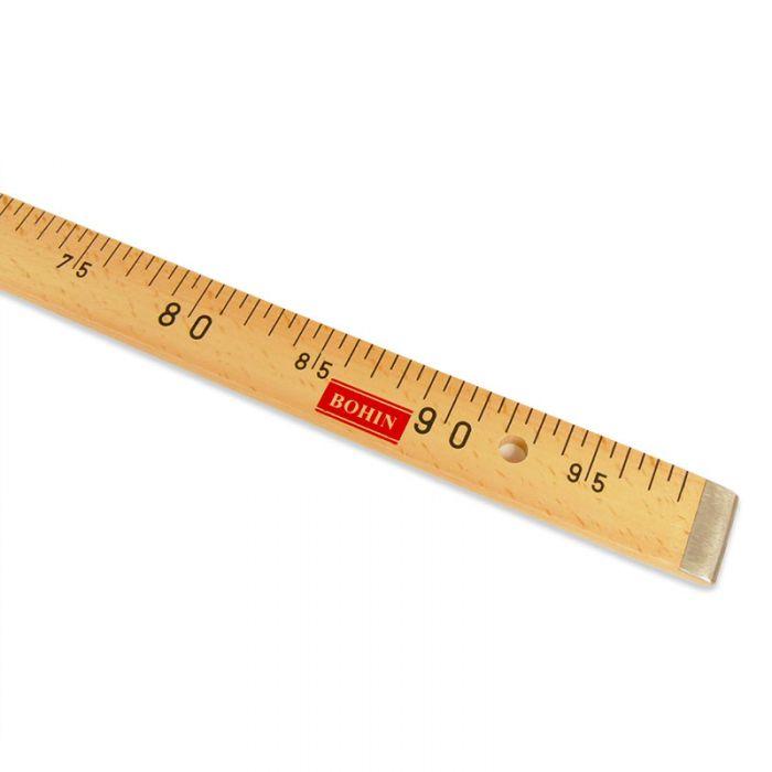 Règle mètre bois plat Bohin