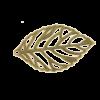 Breloque filigrane feuille 24mm bronze