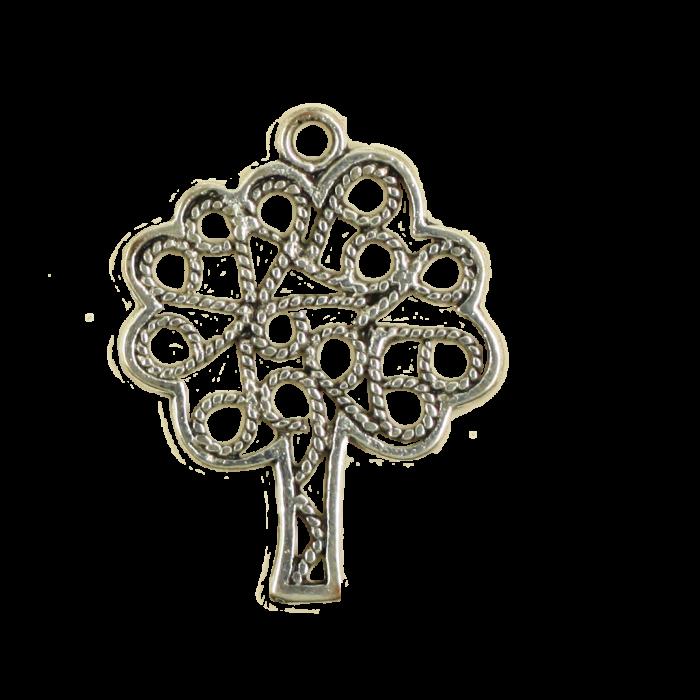 Breloque arbre 25mm argent