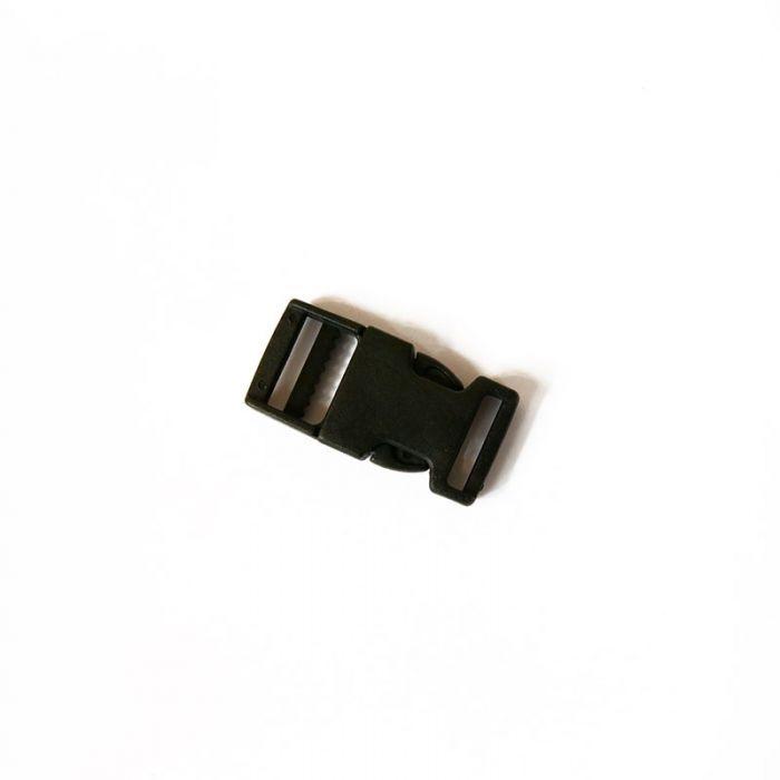 Boucle à clip en plastique noir