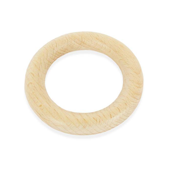 Anneau de dentition rond en bois 70 mm - Rico Design x 1