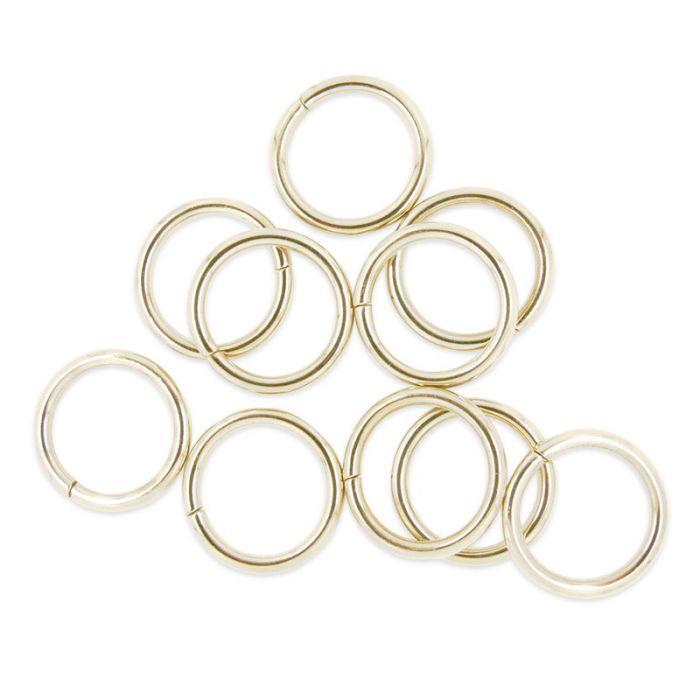 Anneaux de sac ronds argent 25 mm x 10