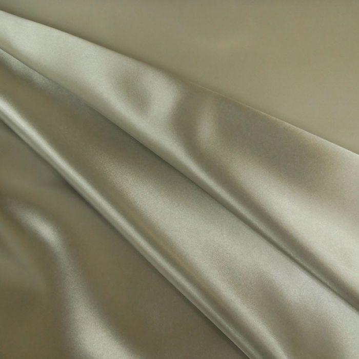 Tissu doublure Satin deluxe - Gris perle x 10 cm