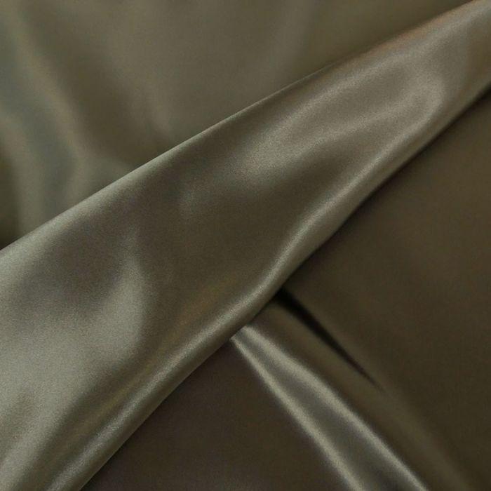 Tissu doublure Satin deluxe - Gris souris x 10 cm