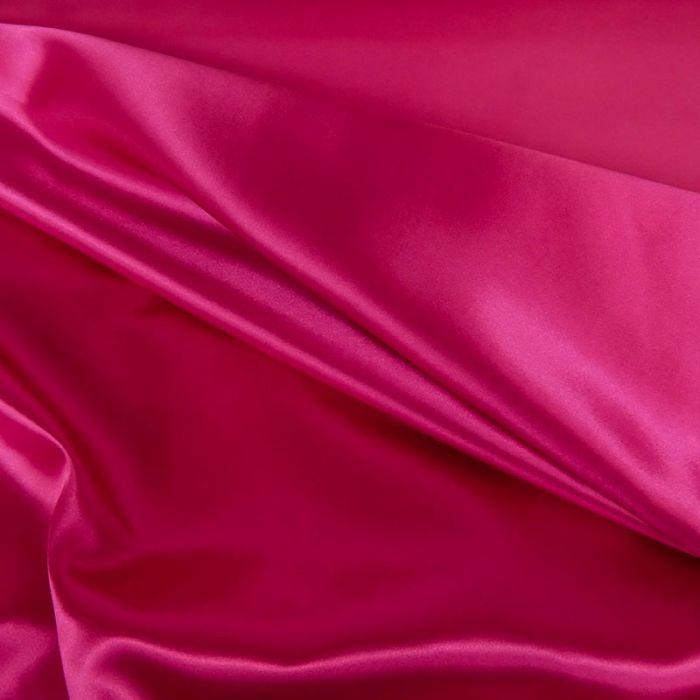 Tissu doublure Satin deluxe - rose fuchsia x 10 cm