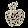 Breloque pomme 21mm argent