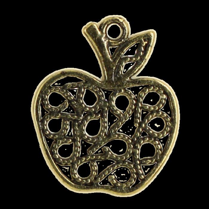 Breloque pomme 21mm bronze