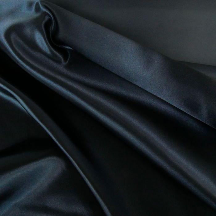 Tissu doublure Satin deluxe - bleu marine x 10 cm