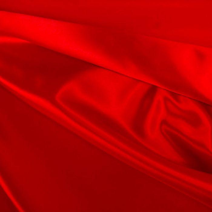 Tissu doublure Satin deluxe - rouge x 10 cm