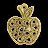 Breloque pomme 21mm dor